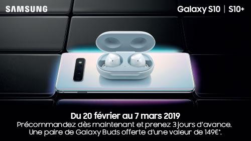 Samsung vous offre une paire de Galaxy Buds pour toute précommande d'un Galaxy S10 ou S10+