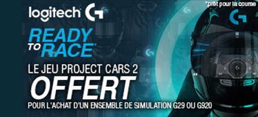 Project Cars 2 offert avec Logitech