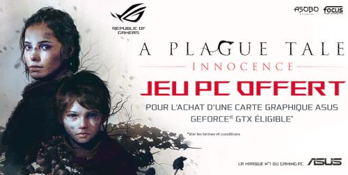 A Plague Tale : Innocence offert dans la limite de 150 codes
