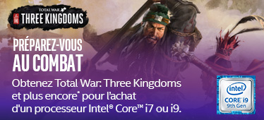 Total War: Three Kingdoms offert avec INTEL