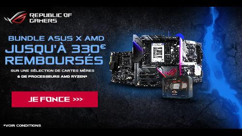 Jusqu'à 330 € remboursés par Asus pour l'achat simultané d'un processeur éligible jusqu'au 27/10/2019