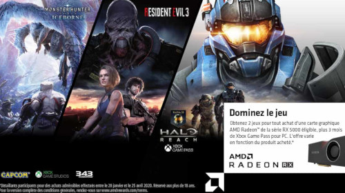 2 jeux offerts avec AMD jusqu'au 30/05/2020