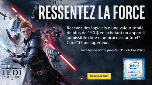 Jedi Fallen Order offert sur une sélection de processeurs et PC Gaming équipés