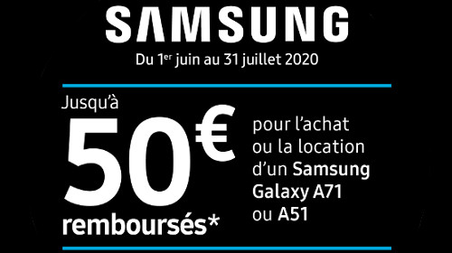 Jusqu'à 50 € remboursés jusqu'au 31/07/2020