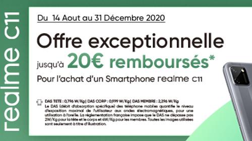 20 € remboursés jusqu'au 31/12/2020
