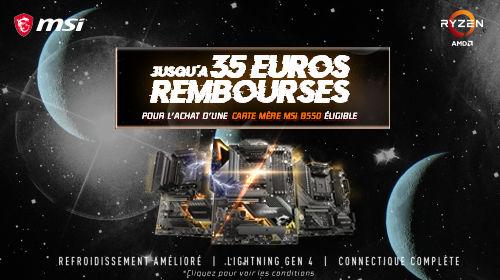 Jusqu'à 35€ remboursés par MSI jusqu'au 31/12/2020
