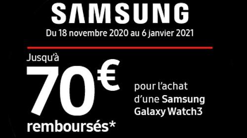 Jusqu'à 70 € remboursés jusqu'au 06/01/2021