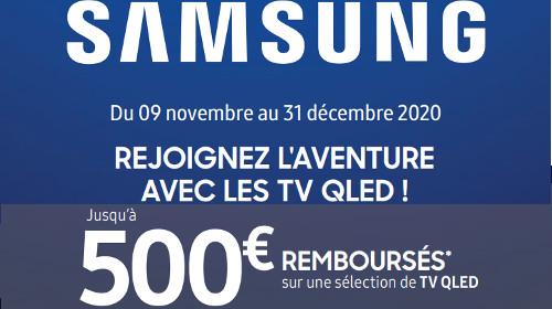 Jusqu'à 500 € remboursés jusqu'au 31/12/2020