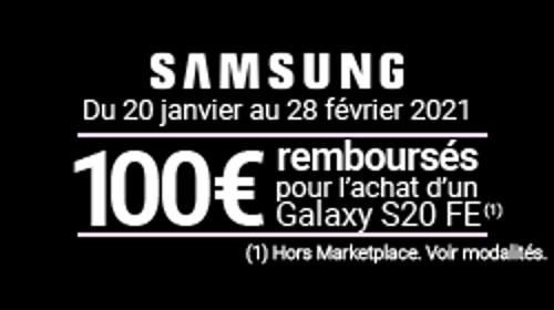 100 € remboursés jusqu'au 28/02/2021