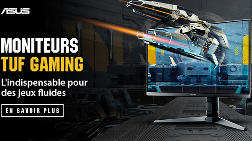Découvrez la sélection d'écrans Asus TUF Gaming