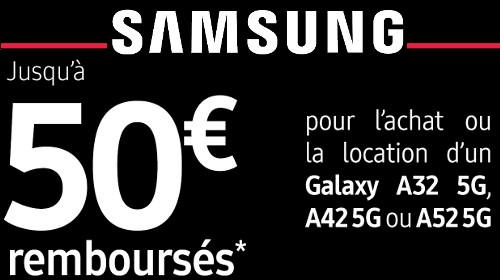 Jusqu'à 50 € remboursés jusqu'au 31/05/2021