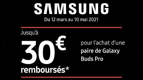 Jusqu'à 30 € remboursés jusqu'au 10/05/2021