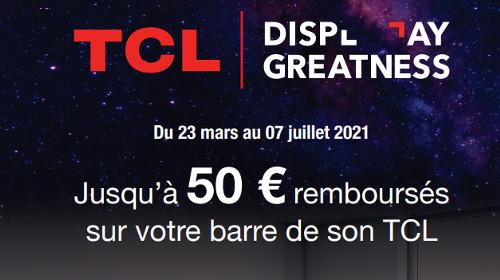 50 € remboursés jusqu'au 07/07/2021