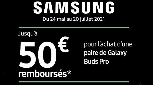 Jusqu'à 50 € remboursés jusqu'au 20/07/2021