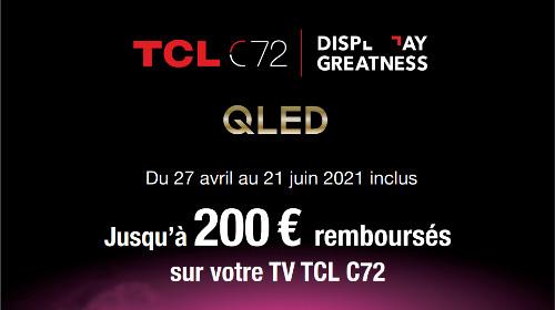 Jusqu'à 200 € remboursés jusqu'au 21/06/2021