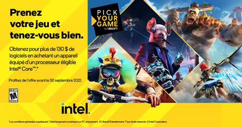 Jeux offerts avec Intel jusqu'au 30/06/2021