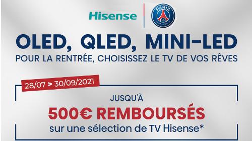 Jusqu'à 500 € remboursés jusqu'au 30/09/2021
