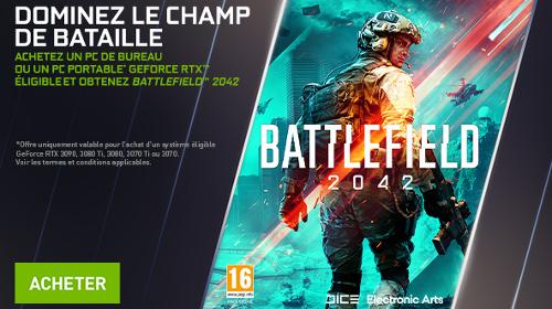 Le jeu Battlefield 2042 offert par NVIDIA jusqu'au 04/10