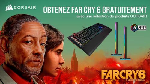Le jeu Far Cry 6 offert par Corsair jusqu'au 30/09