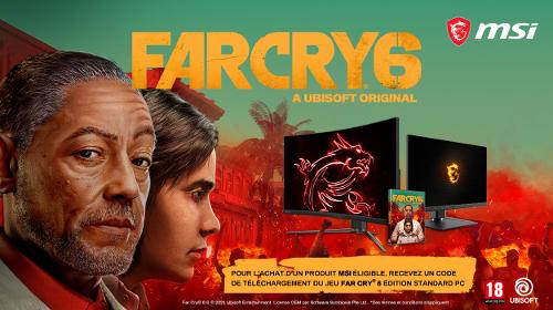 Le jeu Far Cry 6 offert par MSI jusqu'au 31/10