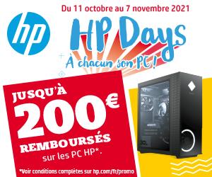 Jusqu'à 200€ remboursés avec HP