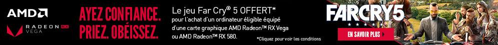 Jusqu'au 30 juin, AMD offre le jeu PC Far Cry 5 pour l'achat d'un ordinateur éligible