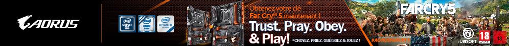 Jusqu'au 31 mars, Gigabyte offre le jeu PC Far Cry 5 pour l'achat d'une carte mère AORUS éligible