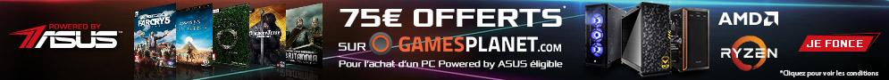 Jusqu'au 31 juillet, profitez de 75€ de crédits offerts pour l'achat d'un PC LDLC Powered by ASUS + CPU Ryzen