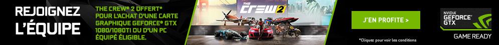 The Crew 2 (PC) offert pour l'achat d'un PC ou d'une carte graphique éligible