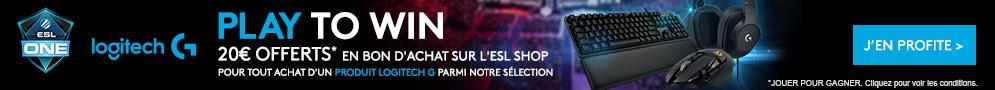 20€ de crédit à valoir sur le shop de l'ESL offerts pour l'achat d'un produit éligible de la gamme G