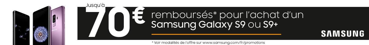 70€ remboursés sur les Galaxy S9 et S9+