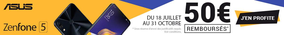 50€ remboursés par Asus sur le ZenFone 5