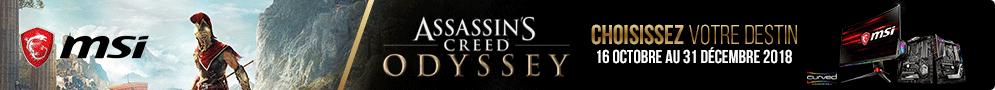 Jusqu'au 31 décembre, MSi offre le jeu Assassin's Creed Odyssey Standard (PC) pour l'achat d'une carte mère ou d'un moniteur éligible