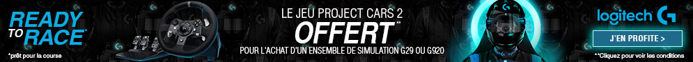 Jusqu'au 19/11/2018, le jeu Project Cars 2 est offert pour l'achat d'un pack Volant + Driving Force Shifter éligible