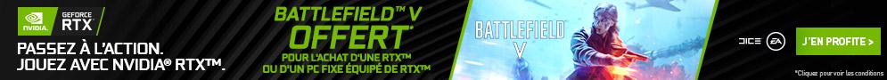 Battlefield V offert avec NVIDIA pour l'achat d'une carte graphique ou d'un PC en RTX