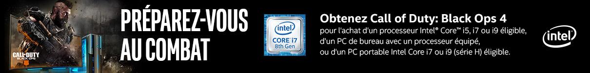 Call Of Duty Black Ops 4 offert pour l'achat d'un processeur Intel éligible
