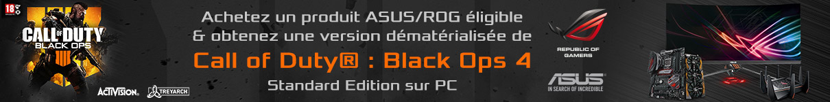 Call Of Duty Black Ops 4 version Deluxe offert avec votre carte mère Z390 Asus !