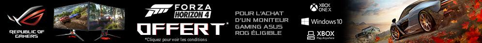Jusqu'au 27/01/19, Forza Horizon 4 offert avec Asus pour l'achat d'un écran PC éligible