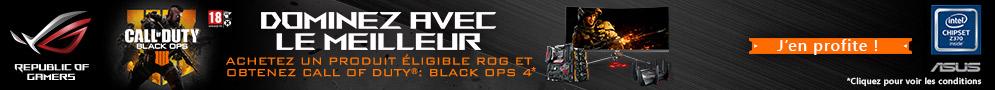 Jusqu'au 28/02/2019, Call of Duty Black Ops 4 Deluxe Edition offert pour l'achat d'un produit Asus ROG éligible