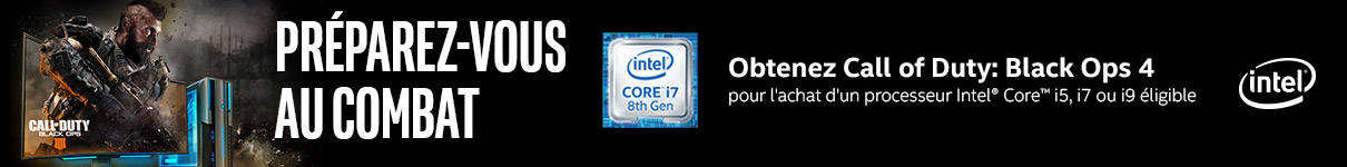 Call of Duty : Black Ops 4 offert sur une sélection de processeurs Intel