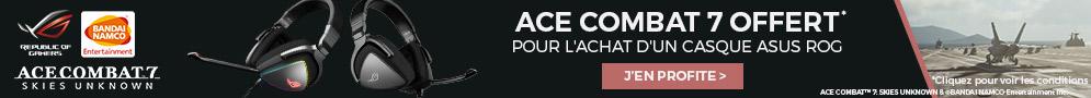 Jusqu'au 18/03/2019, le jeu Ace Combat 7 offert pour l'achat d'un casque Asus ROG Delta ou Delta Core