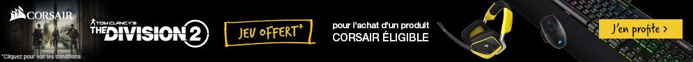 The Division 2 offert pour l'achat d'un produit CORSAIR éligible