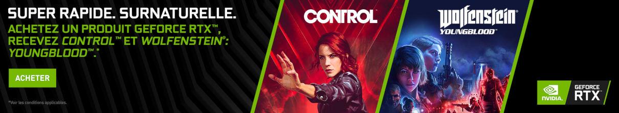 Control et Wolfenstein : Young Blood offerts jusqu'au 16/09/2019