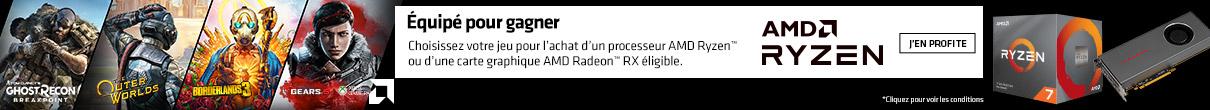 1 jeu au choix offert avec AMD sur ce processeur