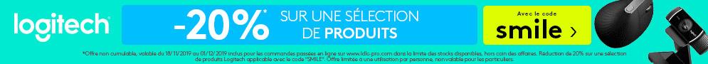 Jusqu'au 1er décembre, profitez d'une réduction de 20% sur une sélection de produits Logitech