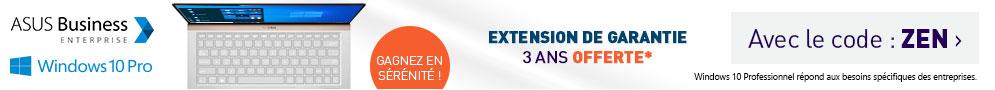 Extension de garantie OFFERTE avec ASUS avec le code ZEN