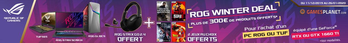 Casque ROG Strix Go + 2 jeux offerts jusqu'au 26/01/2020
