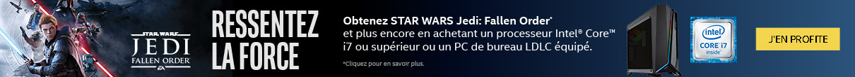 Star Wars: Jedi Fallen Order offert avec INTEL