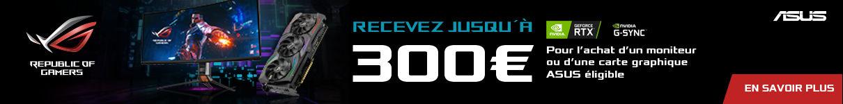 Jusqu'à 300€ remboursés par Asus jusqu'au 21/06/2020