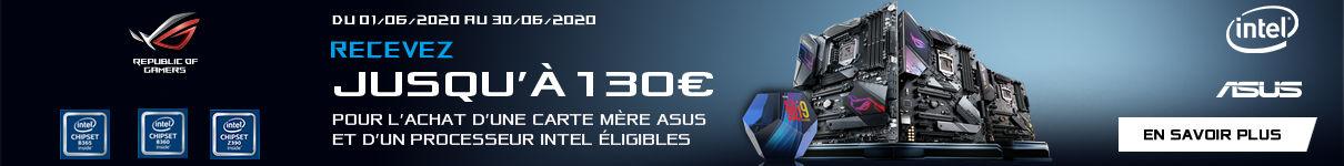 Jusqu'à 130€ remboursés par Asus jusqu'au 30/06/2020